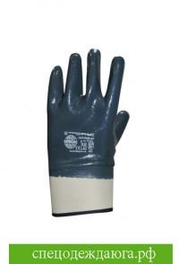 Перчатки нитриловые с твёрдыми манжетами